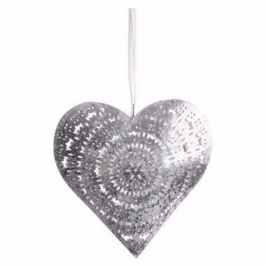 Decoratie hart hanger groot type 2