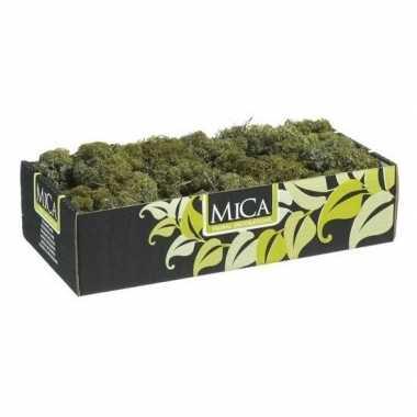 Decoratie/hobby mos donkergroen 500 gram