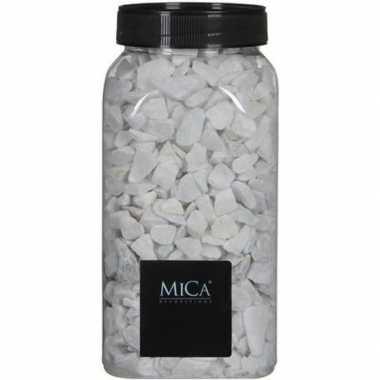 Decoratie/hobby stenen wit 1 kg