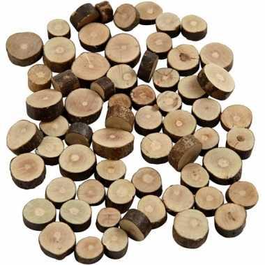 Decoratie houten schijfjes 230 gr