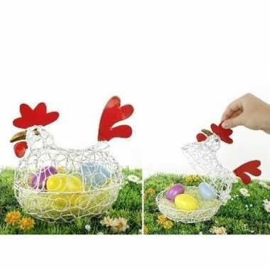 Decoratie kip/eierschaal voor pasen 25 cm