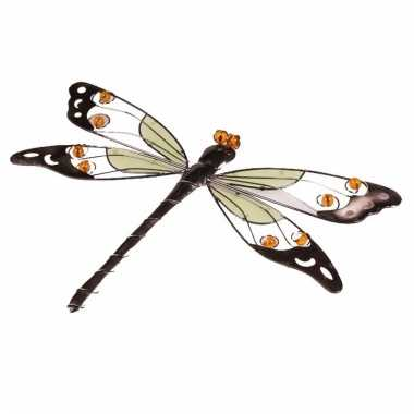 Decoratie libelle geel 10 cm glow in the dark - Decoratie geel ...