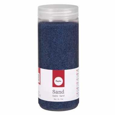 Decoratie materiaal blauw zand