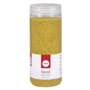 Decoratie materiaal geel zand