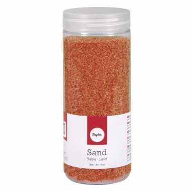 Decoratie materiaal oranje zand