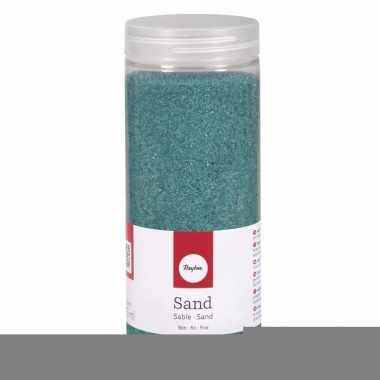 Decoratie materiaal turquoise zand