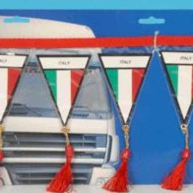 Decoratie mini vlaggenlijn italie 60 cm