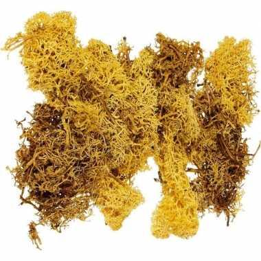 Decoratie mos geel 50 gram