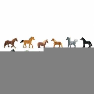 Decoratie paarden 12 stuks