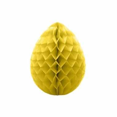 Decoratie paasei geel 10 cm