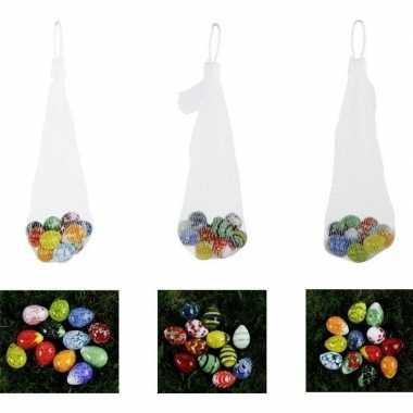 Decoratie paaseieren van glas 2 cm 12 stuks