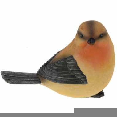Decoratie roodborstjes vogeltjes 17 cm