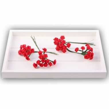 Decoratie rozen rood 12 cm