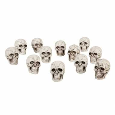 Decoratie schedels 24x stuks
