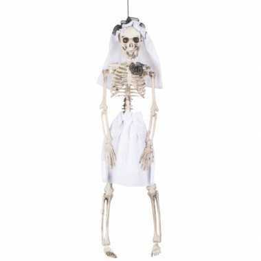 Decoratie skelet bruid 41 cm