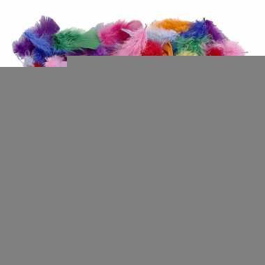 Decoratie veren gekleurd 50 gram