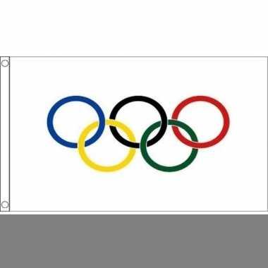 Decoratie vlaggen olympische spelen