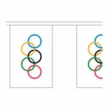 Decoratie vlaggenlijnen olympische spelen