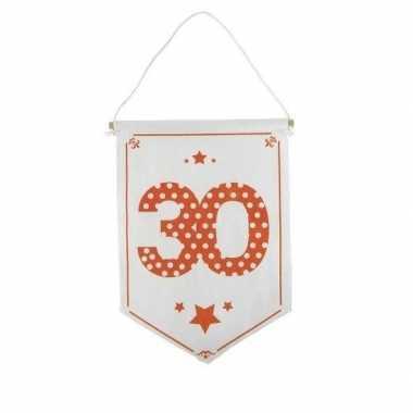 Decoratie vlaggetje/vaantje 30 jaar