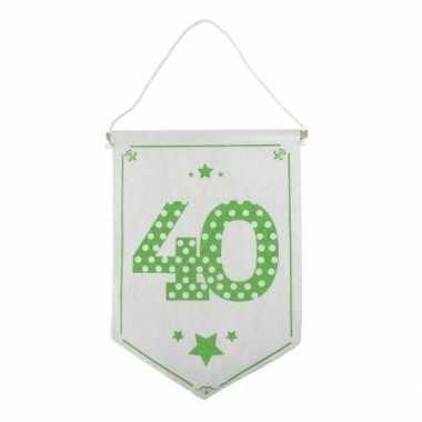 Decoratie vlaggetje/vaantje 40 jaar