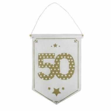 Decoratie vlaggetje/vaantje 50 jaar