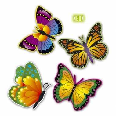 Decoratie vlindertjes van karton