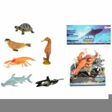 Decoratie zeediertjes 6 stuks