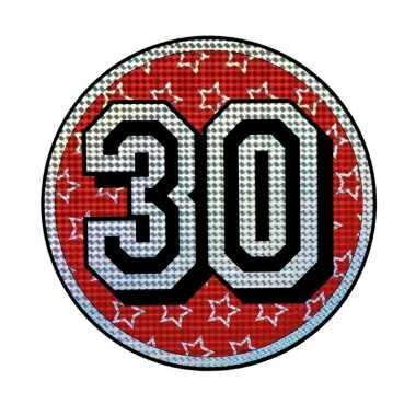 Decoratiebord 30 jaar holografisch