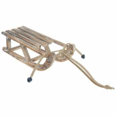 Decoratiehanger houten slee