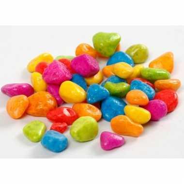 Decoratieve stenen neon kleuren 8-10 mm
