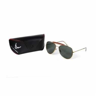 Deluxe zonnebril groen