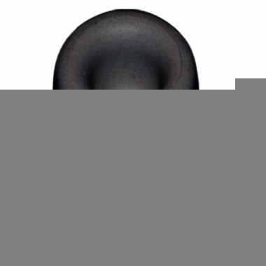 Deurbuffer / deurstopper zwart rubber 35 x 30 mm