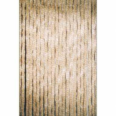 Deurgordijn beige 22 slierten 90x200 cm