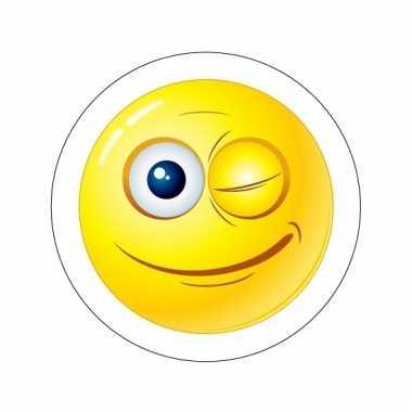 Deurstickers smiley type 9