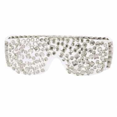 Diamanten bril zilver