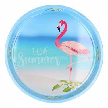 Dienblad flamingo beach 33 cm