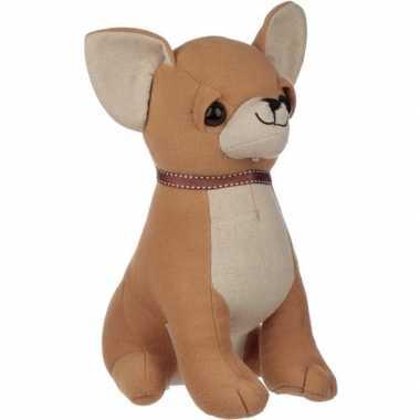 Dieren deurstopper chihuahua hond 25 cm