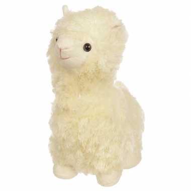 Dieren deurstopper witte alpaca/lama 30cm