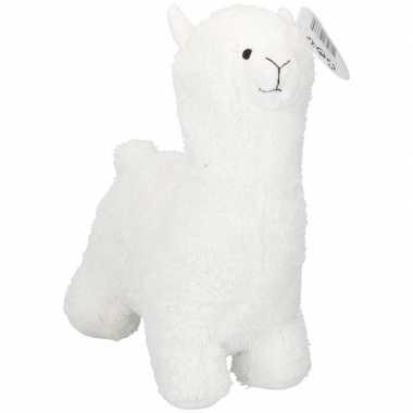 Dieren deurstopper witte alpaca/lama 35 cm