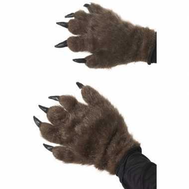 Dieren handschoenen met nagels