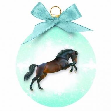 Dieren kerstballen paardje
