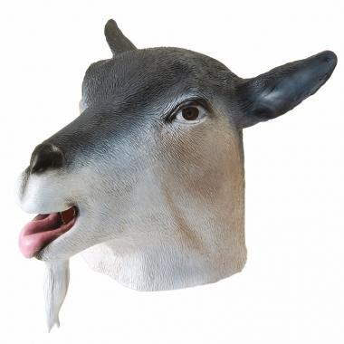 Dieren masker geit grijs
