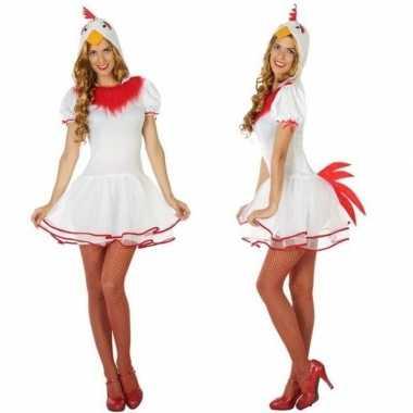 Dieren verkleed jurkje kip/hen voor dames
