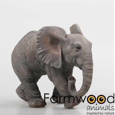 Dierenbeeld olifant 21 cm