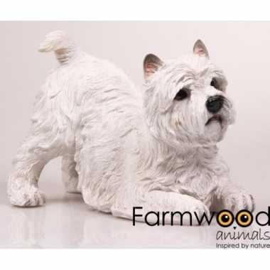 Dierenbeeld westie terrier hond 18 cm