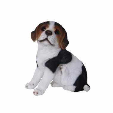 Dierenbeeldje beagle hond pup type 2 20 cm