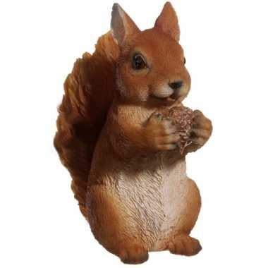 Dierenbeeldje bruine eekhoorn 15 cm trend