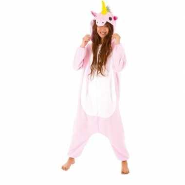 Dierenpak eenhoorn pinky onesie verkleed kostuum voor dames