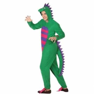 Dierenpak groene draak verkleedkostuum voor heren
