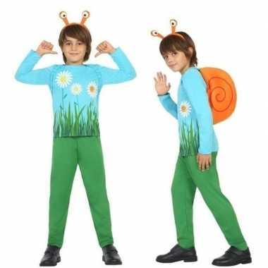 Dierenpak slak/slakken verkleed kostuum voor jongens